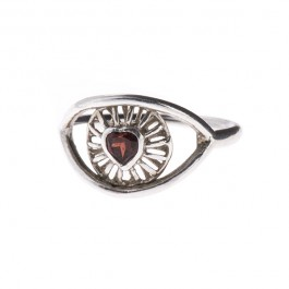 Eye Love You Ring with Stone