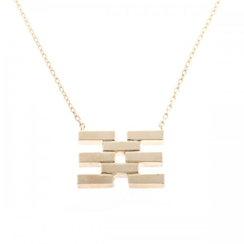 Fused Flat Lines Necklace