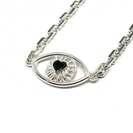 Enlarged Eye Love You Necklace