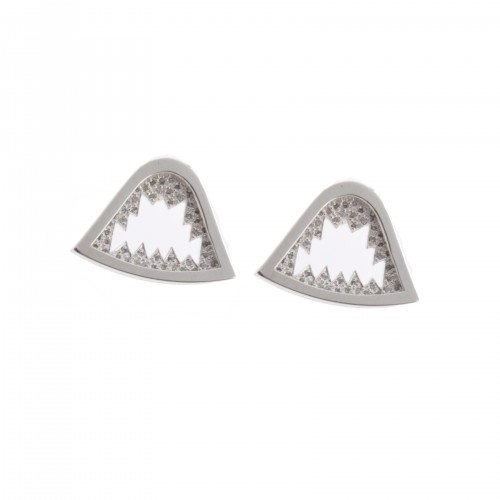 Sharkbite Earrings with Pavé
