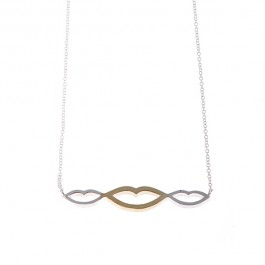Locked Lips Bar Necklace