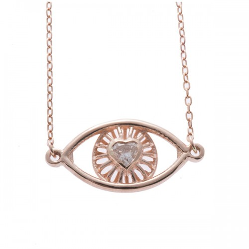 Eye Love You Necklace with Stone